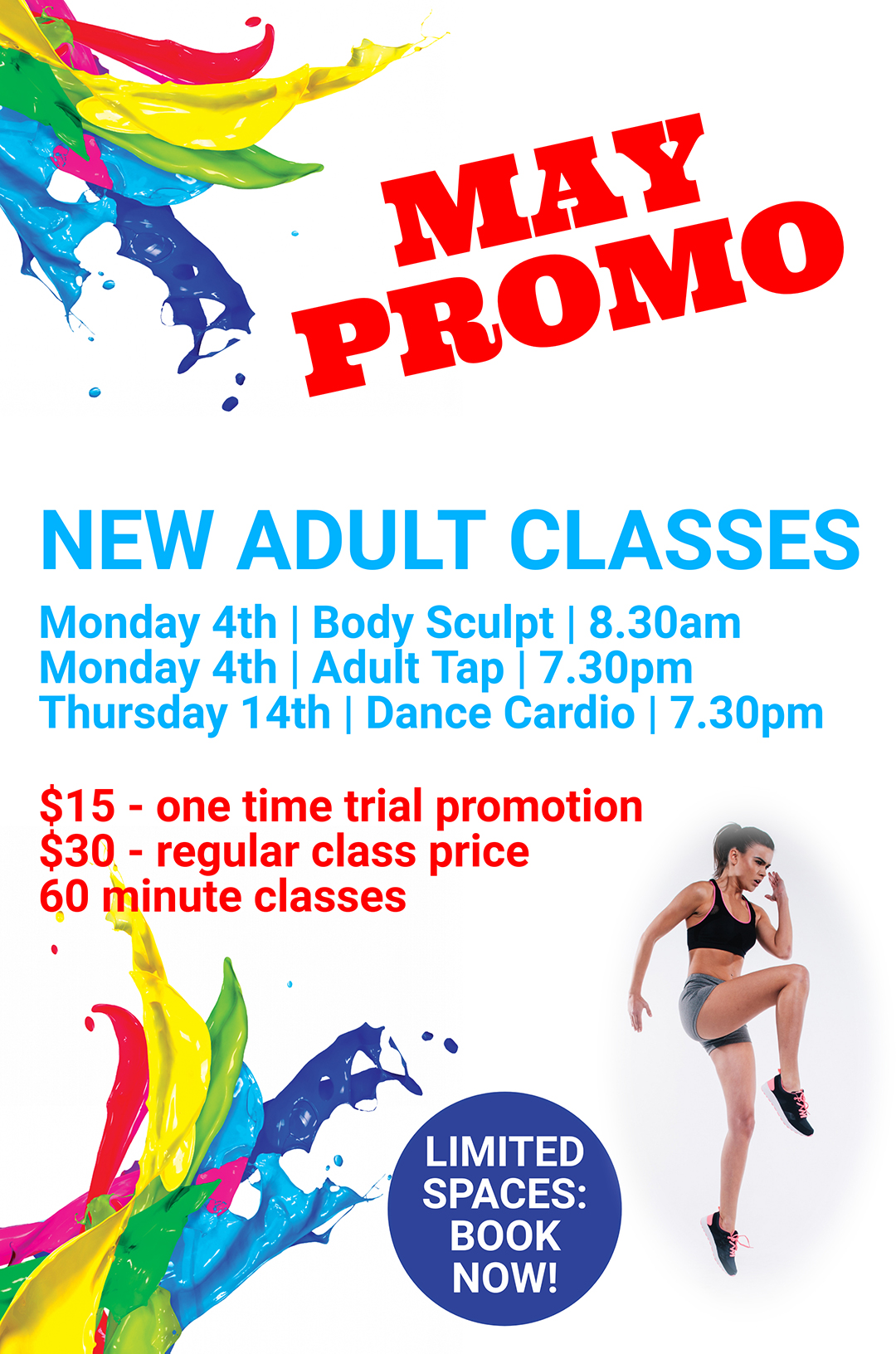 May Promo: NEW ADULT CLASSES!